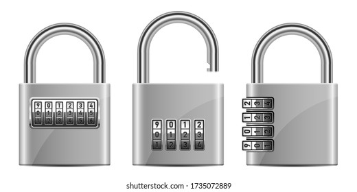 Padlock combination vector design illustration isolated on white background