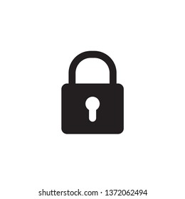 padlock icon design template