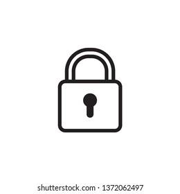 padlock icon design template