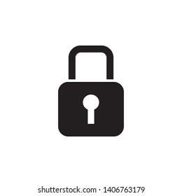 padlock icon design template. Trendy style, vector eps 10