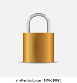 Padlock Icon Set, closed padlocks metal gold, silver. Vector 3d realistic style. Lock different steel texture for web and mobile Apps, protection privacy. Isolated on grey background