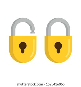 Padlock icon. Symbol of protection. Vector illustration.