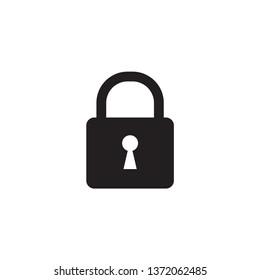 padlock icon vector design template