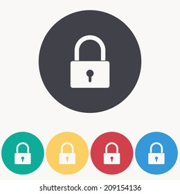 Padlock icon , vector illustration