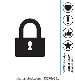 Padlock icon, vector illustration