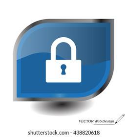 Padlock icon, vector illustration