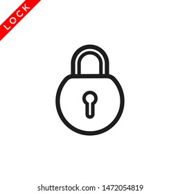 padlock icon vector logo template, lock icon