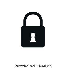 Padlock icon vector ,safety icon illustration