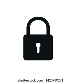 Padlock icon vector ,safety icon illustration