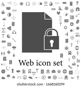 padlock icon. web icons universal set for web and mobile