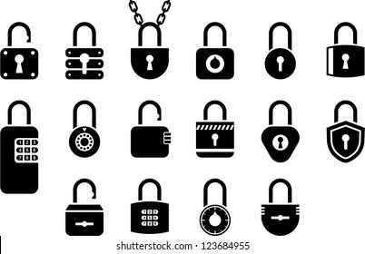 Padlock icons