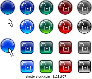 A lot of padlock icons. Vector illustration.