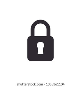 padlock lock icon vector