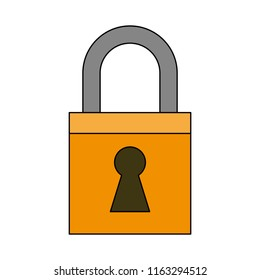 Padlock security emblem
