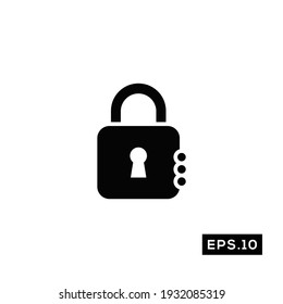 Padlock Security icon. Pin Locked Icon vector Illustration Template For Web and Mobile
