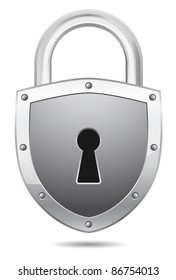 padlock - shield design