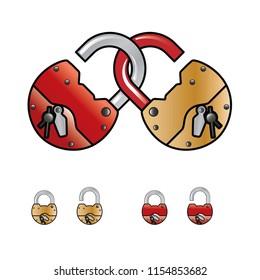 padlock, vector, art,