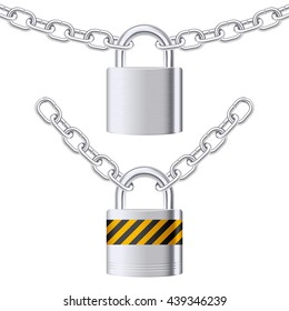 Padlocks on chain