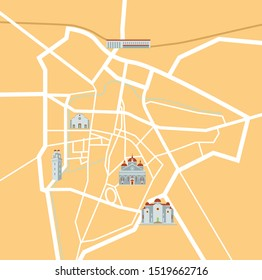 Padova Veneto Italy map vector illustration