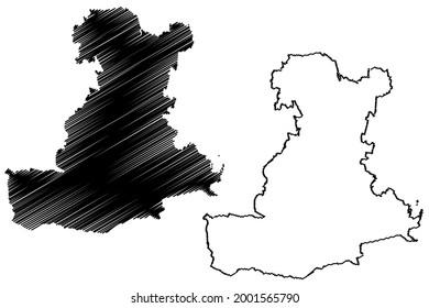 Padua province (Italy, Italian Republic, Veneto or Venetia region) map vector illustration, scribble sketch Province of Padua map
