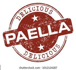 Paella Food Rubber Stamp