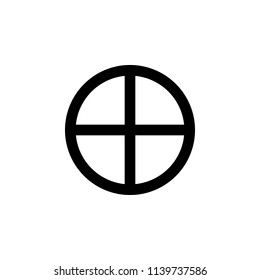 Paganism Sun Cross sign icon. Element of religion sign icon for mobile concept and web apps. Detailed Paganism Sun Cross icon can be used for web and mobile on white background
