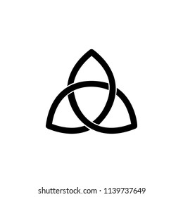 Paganism Triquetra sign icon. Element of religion sign icon for mobile concept and web apps. Detailed Paganism Triquetra icon can be used for web and mobile on white background