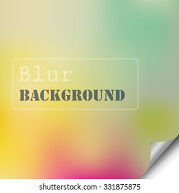 page of blur colorful paper folded for web design