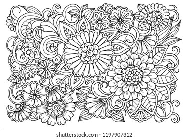 Adult Coloring Pages Images, Stock Photos & Vectors | Shutterstock