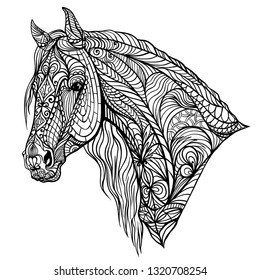 Horse Adult Coloring Pages Images, Stock Photos & Vectors ...