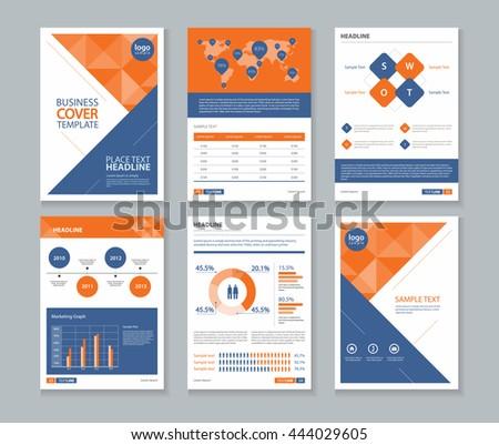 Company Profile | Page Company Profile Annual Report Layout Stock Vektorgrafik