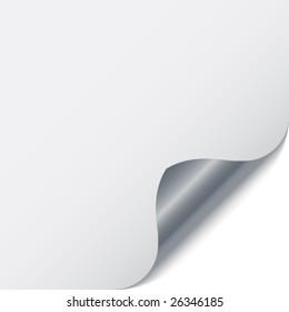 page corner with metallic backs