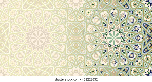 Page Design Template with Morocco Ornament. Abstract Background.