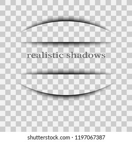 Page divider with transparent shadows isolated. Transparent shadow realistic illustration