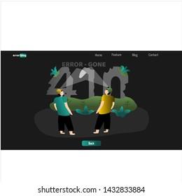 page error 410 - Gone illustration. error 410 gone. web page error illustration vector