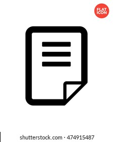 Page flip Icon Flat Style Isolated Vector Illustration