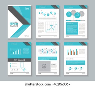 page layout for company profile ,annual report , brochure ,and  flyer, template with info graphic element desogn