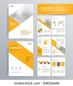 Company profile template images stock photos vectors shutterstock page layout for company profile annual report brochure and flyer layout template accmission Choice Image