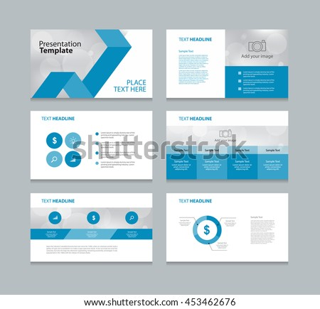 page layout design template presentation brochure stock vector