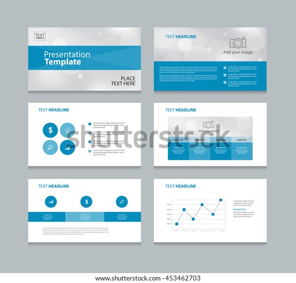 Page Layout Design Template Presentation Brochure Stock Vector Royalty Free 453462703