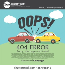 Page Not Found Error 404 Vector Illustration