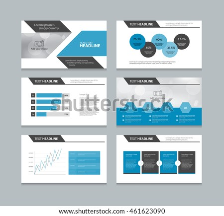 page presentation layout design template info stock vector royalty