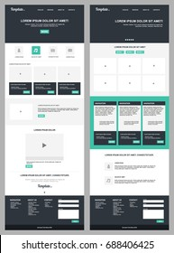 Page Website Template. Modern Web Design with flat UI elements.