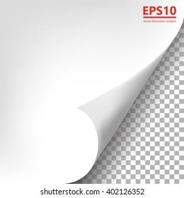 Pages curl illustration vector design