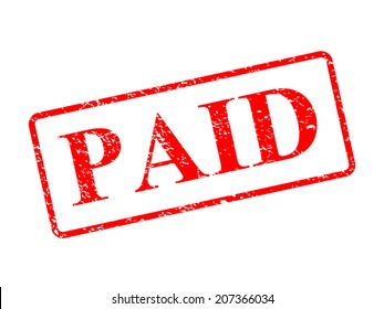 Paid red stamp vector illustration