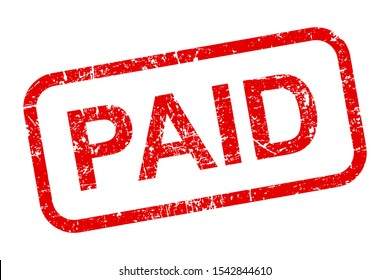 Paid stamp icon sign – stock vector