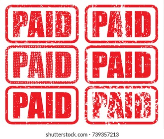 Paid stamping with grungy textured vector background