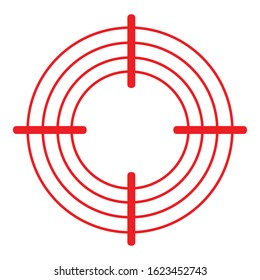 Pain Circle Icon. Target, Focus or Sick Spot Illustration As A Simple Vector Sign Trendy Symbol for Design and Websites, Presentation or Mobile Application.