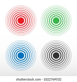 Pain circle. Multicolored ring, symbol of pain. Isolated vector.