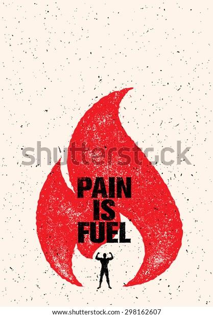 Image Vectorielle De Stock De La Douleur Est Une Citation